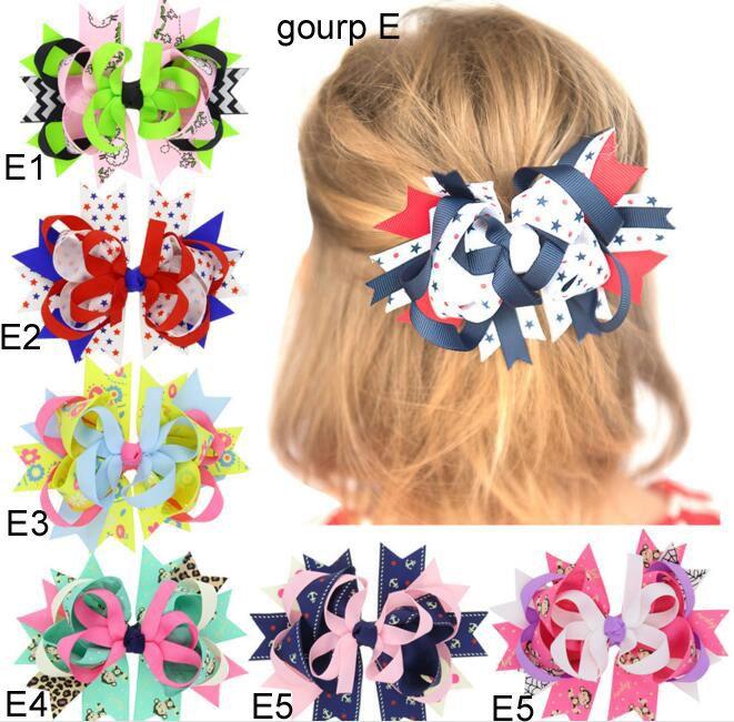 11 Gruppi 4 luglio Festa dell'indipendenza USA Baby stars stripe bandiera nazionale bowknot Fasce 11 Design Girls Lovely Cute Hair accessory