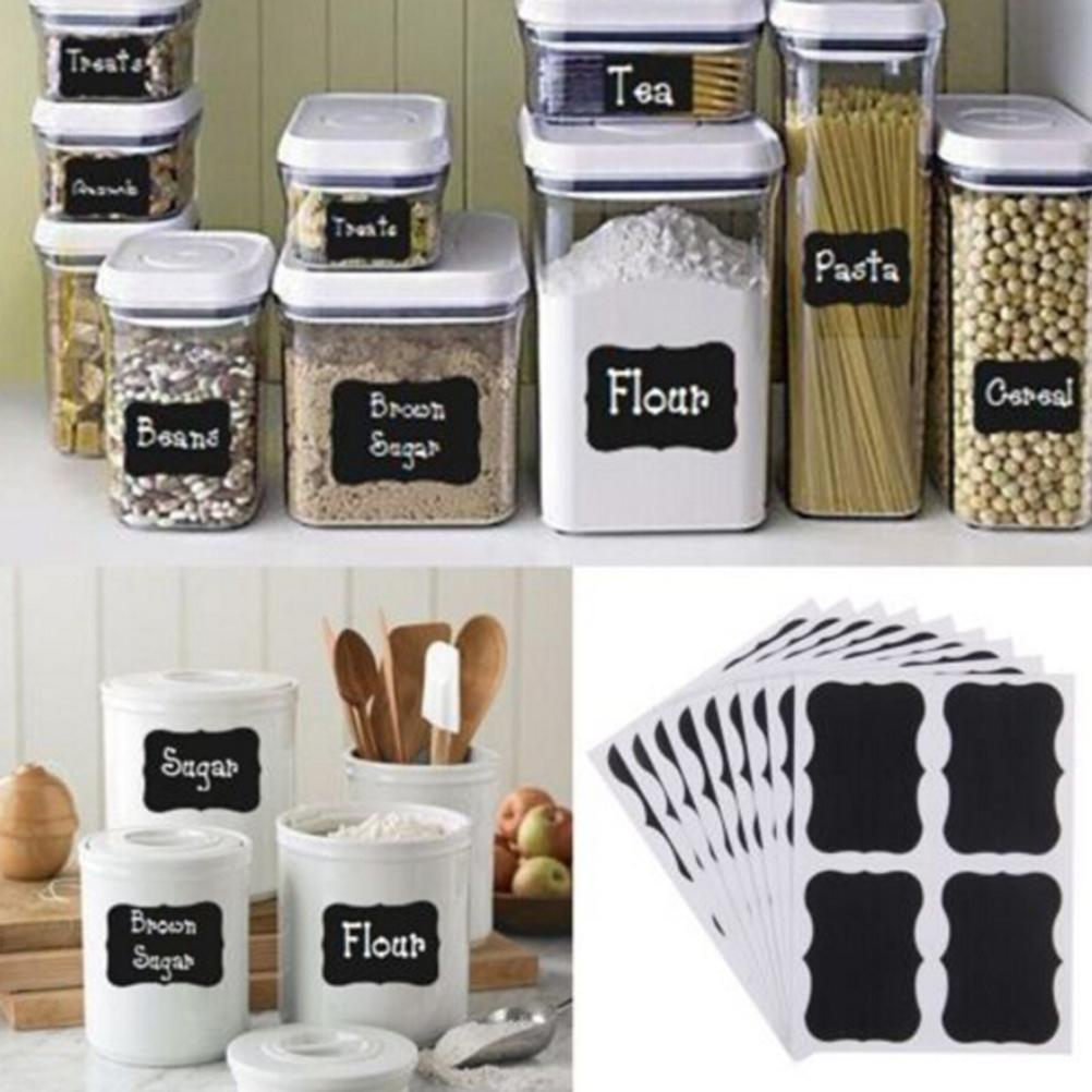 Reusable stickers label for use on candy jam jars can snack nut storage box container write with chalk 49 x 34mm cool wall stickers create wall decals from
