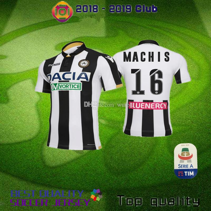 49bfc0846a07b 18 19 Udinese Calcio Camiseta De Fútbol Casa Blanco Negro Visitante 10 R  DEPUESTA 16 MACHIS 38 MANDRAGORA 11 BEHRAMI 2018 2019 Camiseta De Uniforme  De ...