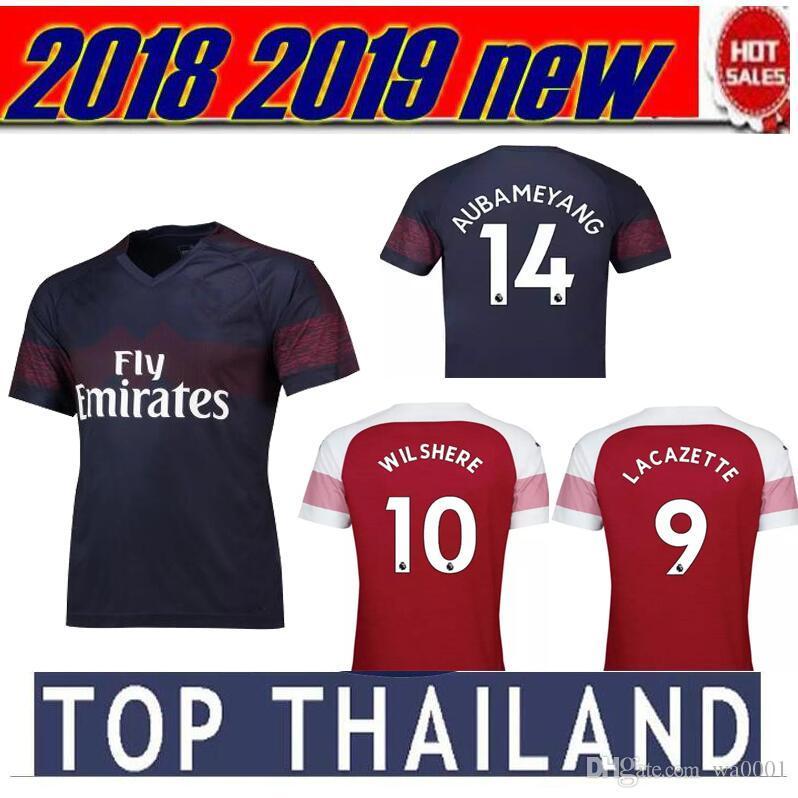 9eabda1684 ... Arsenal Gunners Nueva Season18 19 Hombres Arsenaling Jersey De Fútbol  De 2018 2019 Lacazette Mkhitaryan Xhaka  Camisa ...