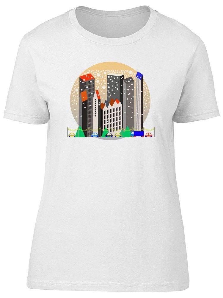 Snowy City Simple Art Women's Tee -Image by Shutterstock
