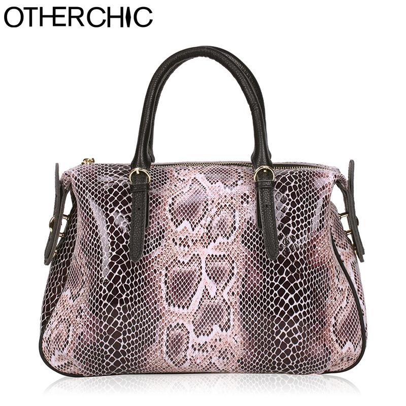 OTHERCHIC 2018 Quality Serpentine Bags Genuine Leather Women Handbag ... b5895350ef14c
