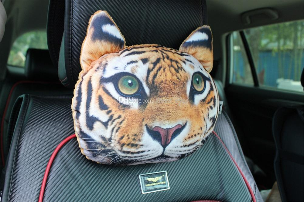 Car Travelling 3D Cute Animal TIGER Gift Pillow Car Seat Driving Pillow Headrest Pillow With Activated Carbon