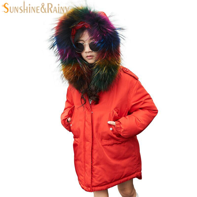 2-12 Years Boys Down Jackets For Girls Winter Coat Kids Snow Wear Children's Down Parka Thick Warm Jacket For Girls Clothing