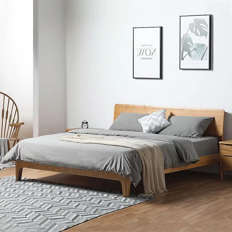 2018 Nordic Wooden 1.8 Meters Double Bed Modern Minimalist 1.5 Meters Oak Single  Bed Adult Simple Solid Wood Bed From Loveinhome, $603.02 | Dhgate.Com
