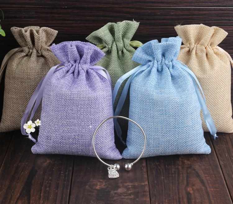20 30 Mixed Jute Drawstring Sacks Gift Bags With Jewelry Accessories