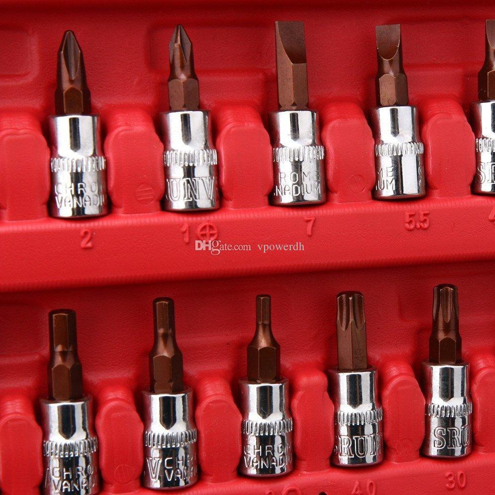 Socket Set Outil De Réparation De Voiture Clé À Cliquet Couple Outils Kit Auto Réparation B00326
