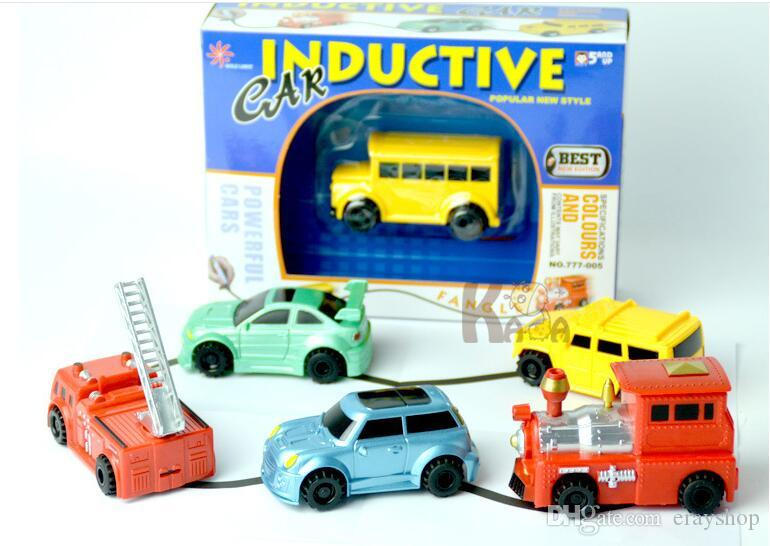 Mini Magic Pen Inductive Fangle Vechicle Toy Children's Car Truck Tank Car Toy Factory Direct Large Stock Ship three styles