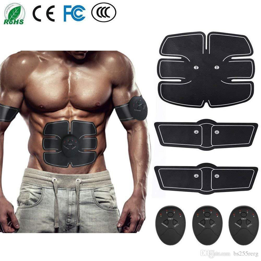 Electric Stimulator Massager Rechargable Abdominal Muscle Toner EMS Muscle Fitness Toning Belt Abdomen/Waist /Leg/Arm/Buttock with 6 Modes