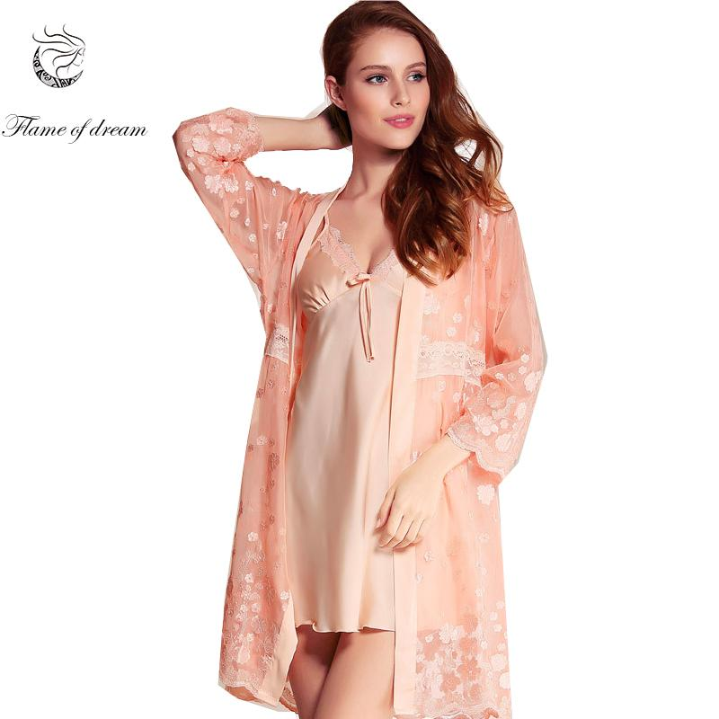 8ab9be2dd8 2019 Autumn New Women Bathrobe Nightwear Women Short Dressing Gowns Womens  Silk Nightgowns 1102 From Odeletta