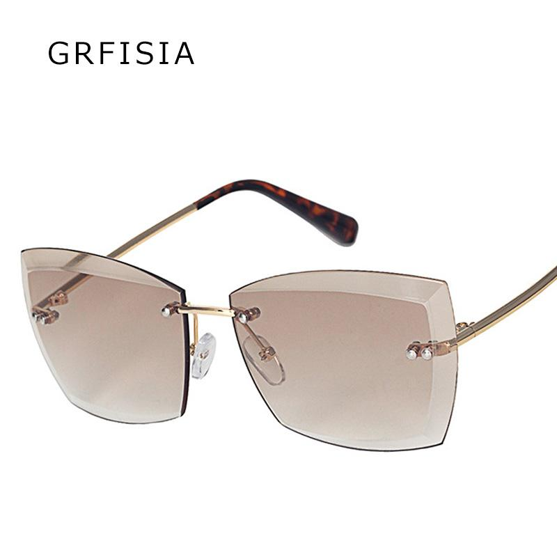b48a54a7cd Grfisia High Fashion Sunglasses Men Women Brand Designer Square Vintage  Oversized Sun Glasses Luxury Big Shades G373 Circle Sunglasses Glass Frames  From ...