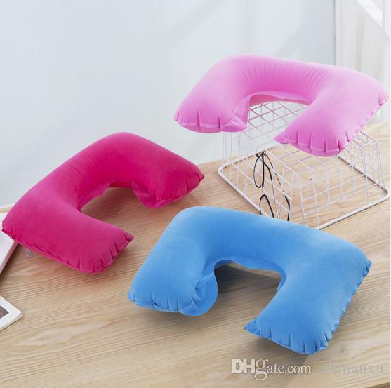 U Pillow Inflatable Soft Car Travel Head Neck Rest Air Cushion U Pillow Sleep Cushion