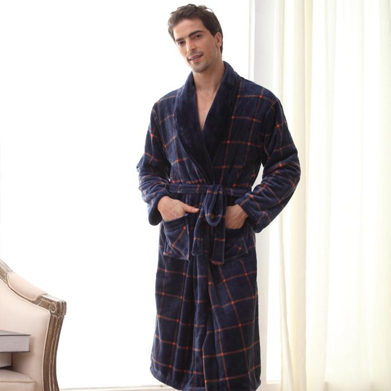 df79900d66 Unterwäsche & Schlafanzug Winter Bademantel Männer Dicker Baumwolle  Männlichen Frauen Bad Roben Herren Homewear Männlichen Nachtwäsche Lounges  Pyjamas ...