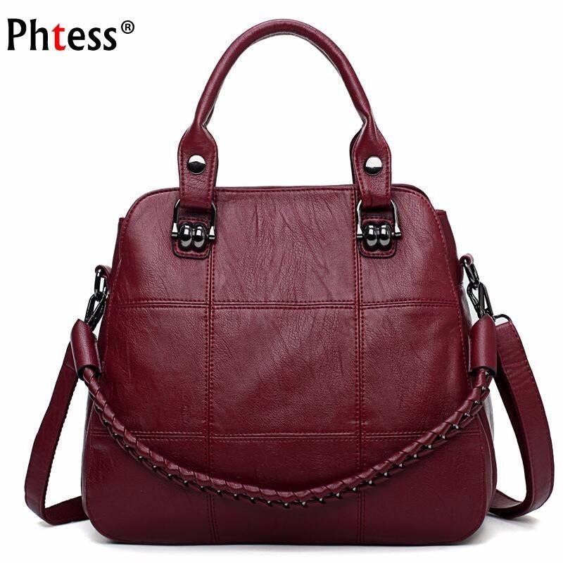 39cfd5e6de5f 2018 Luxury Handbags Women Bags Designer Female Soft Leather ...