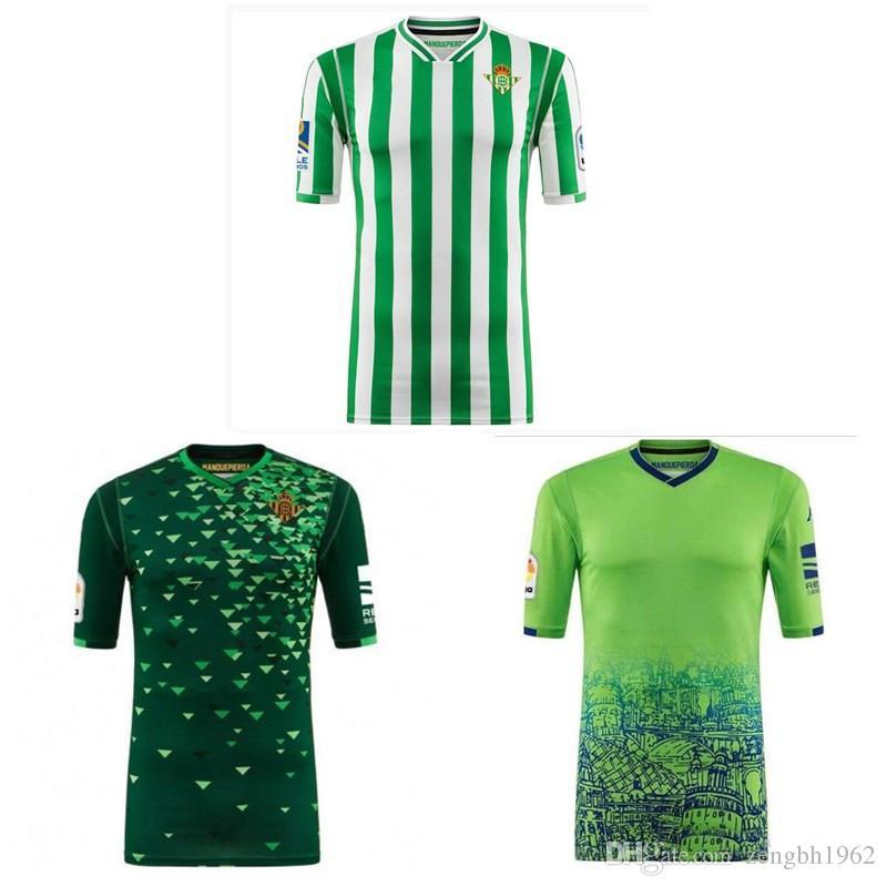 20a750a93d7f4 Thai 18 19 Real Betis Soccer Jerseys JOAQUIN BOUDEBOUZ Football ...