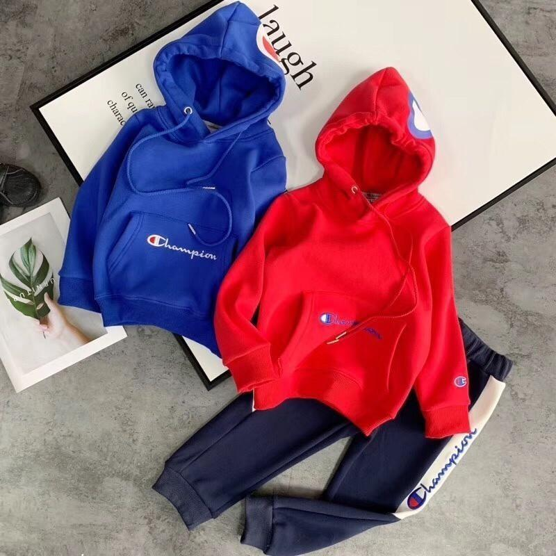 304d033ef1fe 2019 Hooded Sweatshirt Children Sweater Autumn New Motion The Child Baby  Kids Clothing Set Twinset Cashmere Suit Clothes From Joyf