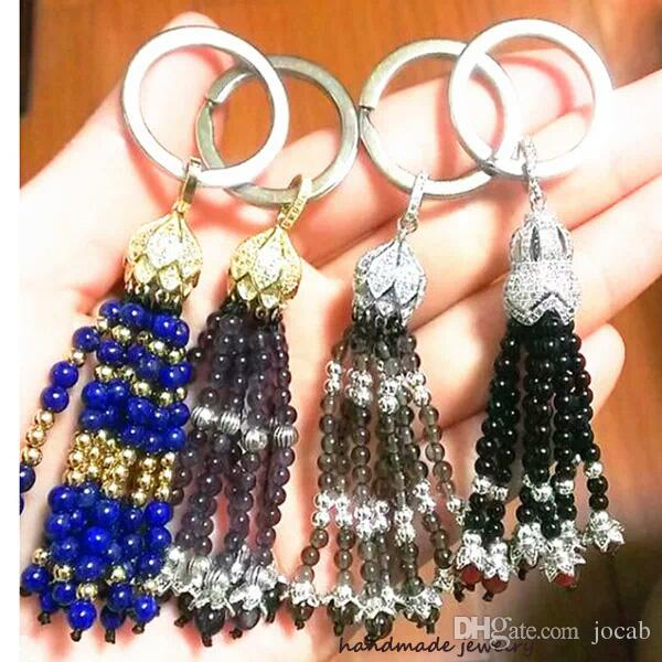 Wholesale DIY Jewelry Accessories Making Supplies Inlaid CZ Rhinestone Copper Metal Pearl/Seed Beads Tassels Cap Charms Connectors Finding