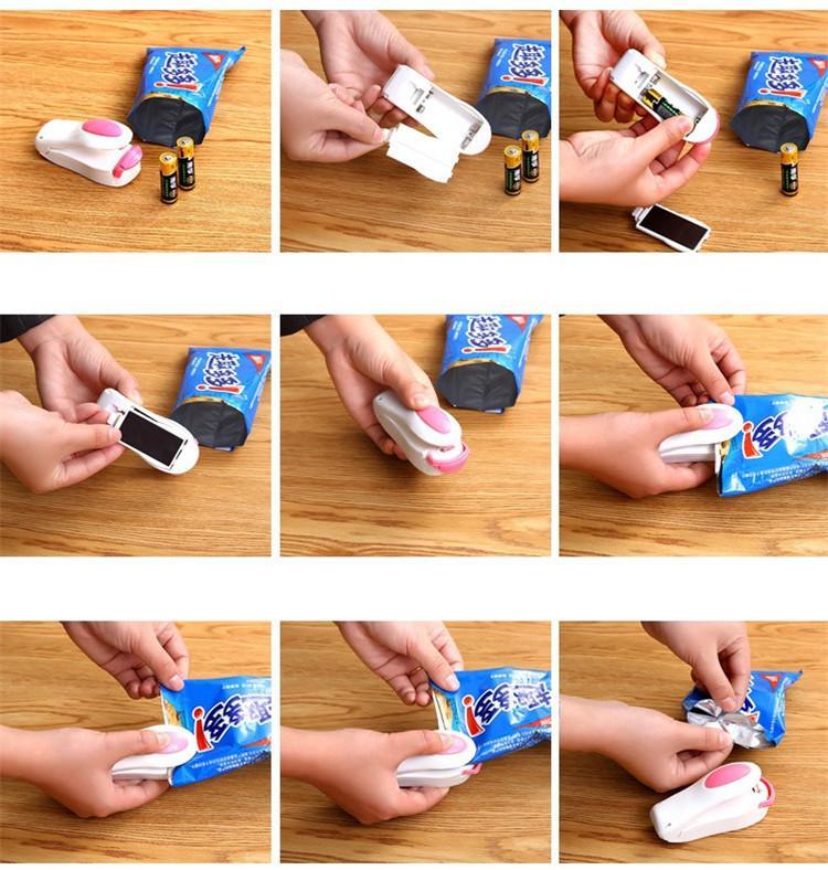 Magnetic Bottom Portable Mini Heat Sealing Machine Impulse Sealer Seal Packing Plastic Bags Vacuum Food Sealer Mini Portable