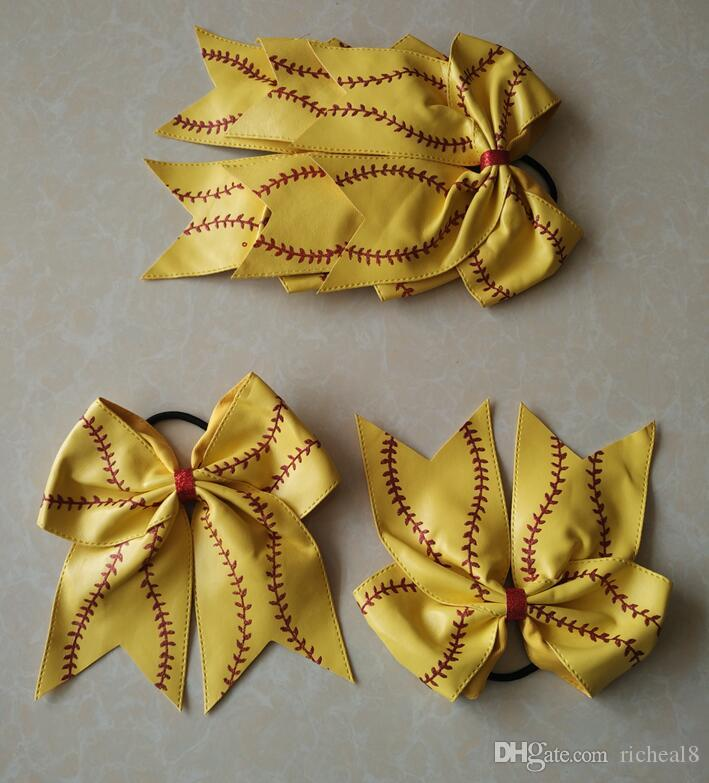 2018 hot sell Softball Flower mixed style Softball Flower Accessory Pony and hair clip,softball hair bows,softball hairbow,baseball hairbow