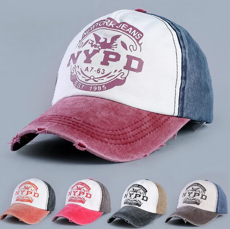 7e6b72dabfb 2018 New Letter Baseball Caps NYPD Messy Bun Baseball Cap Hat Hip ...