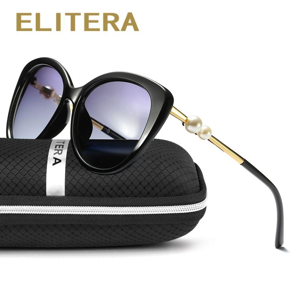 e55f8bcd15 ELITERA Fashion Butterfly Pearl Sunglasses Women Mirror Polarized UV400 Sun Glasses  Brand Designer With Original Box D18101302 Online with  18.98 Piece on ...