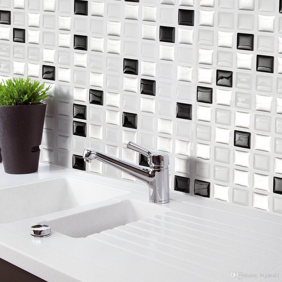 Großhandel Ziegel M Osaic Küche Badezimmer Folie Schönheit 3D ...