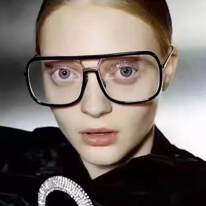 bd2c397b76 2019 Clear Glasses Women Square Lens New Flat Top Eyewear Spectacle Frames  Transparent Oculos Superstar Eyeglasses Fake Glasses From Bw jewelry