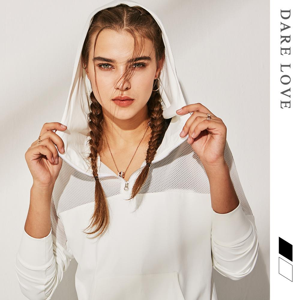 Vogue of new fund of cross-border movement of yoga Outdoor running coat  gauze spell cap loose fitness coat in succession