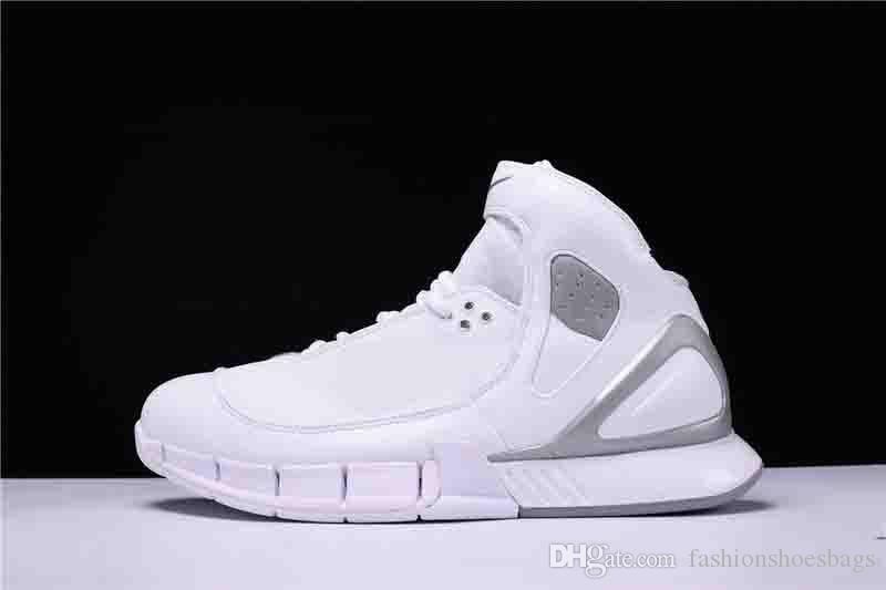7afbb37b3e5c Top Quality 2018 Kobe Bryant 2005 Zoom Huarache 2K5 310850 111 White  Metallic Silver Men S Sneakers Sports Basketball Shoes With Original Bo  Blue Shoes ...