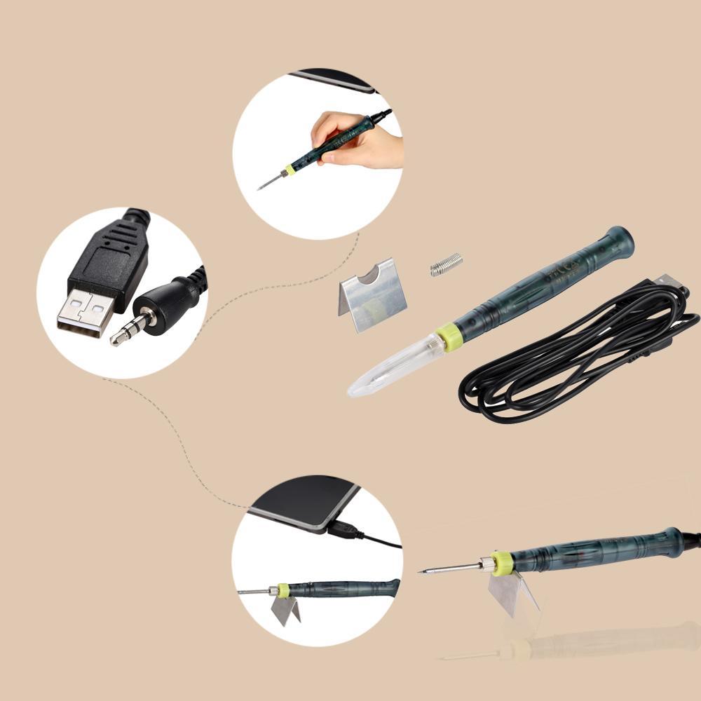 Freeshipping Mini USB электрический паяльник портативный паяльник с LED индикатор горячего железа сварки высокое качество отопление инструмент 5 в 8 Вт