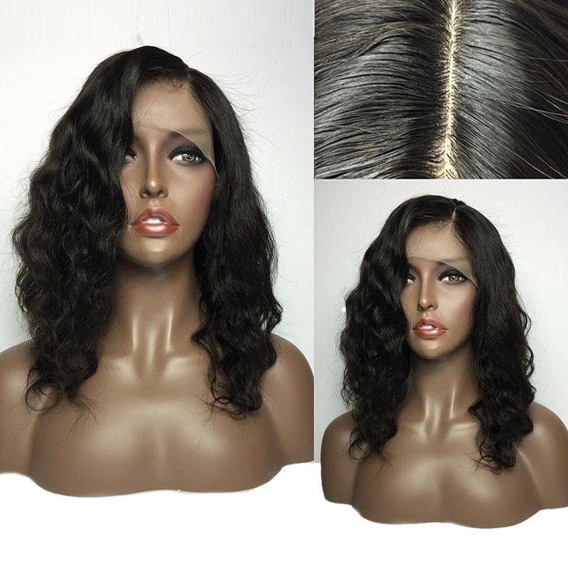 Brazilian Body Wave Silk Base Full Lace Wigs For Black Women 8A Unprocessed Virgin Human Hair Short BOB Silk Top Lace Front Wigs