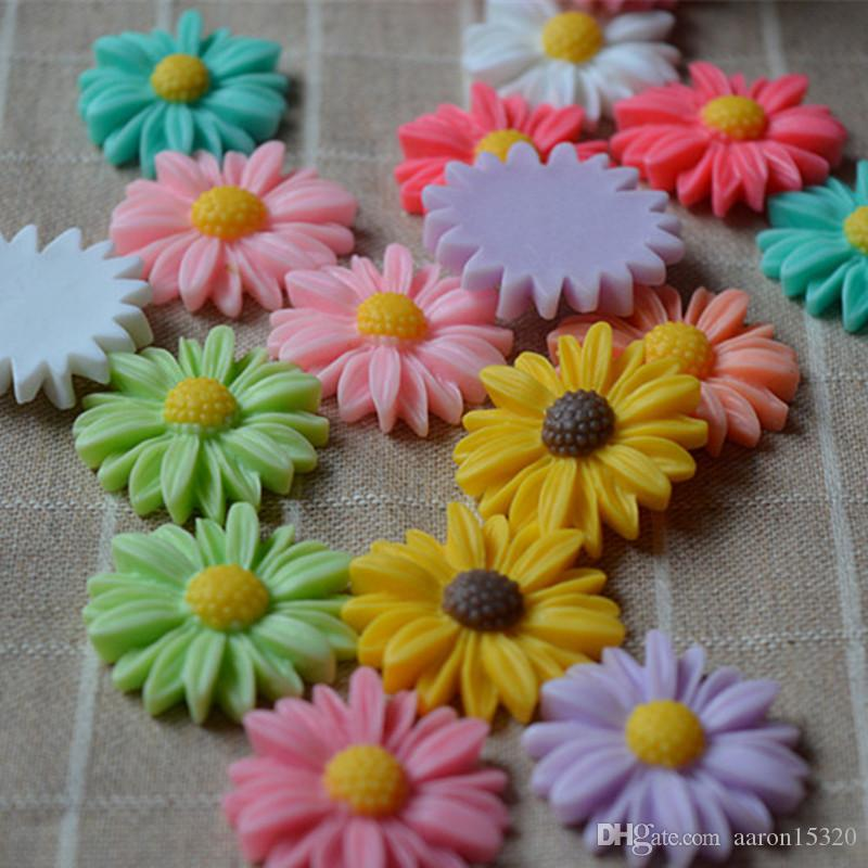 Resin cartoon Daisy flatback Scrapbooking Cabochon DIY for Hair Bow rope /headwear/Crafts Frame Making Embellishments Craft