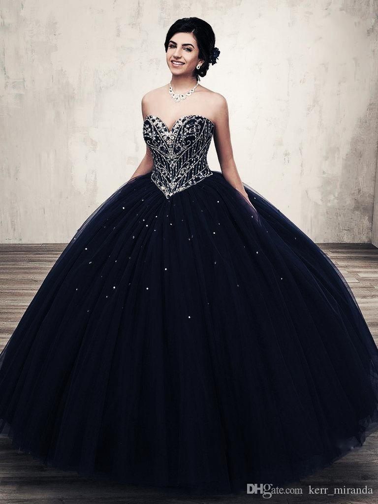New Coming Ball Gown Sweetheart Silver Rhinestones Navy Blue Quinceanera  Dresses Debutante Gowns With Jacket Princess Long Gowns DH4066 Ball Dresses  2015 ... 007298c20e3b
