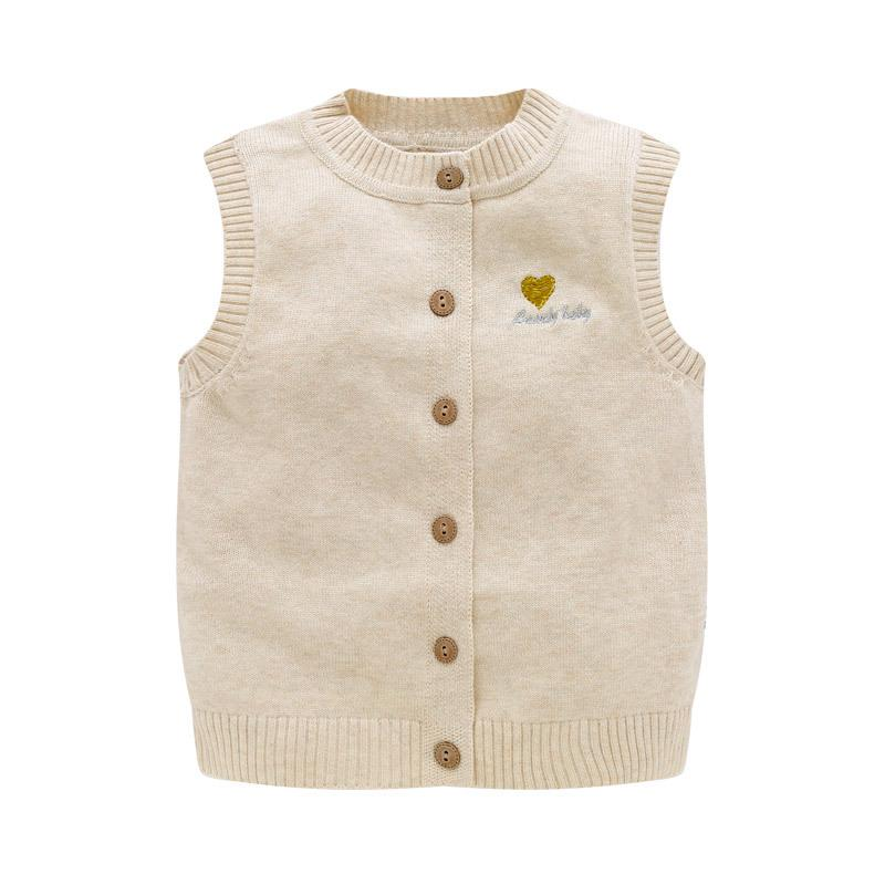 Casual Knit Baby Sweater Vest O Neck Cotton Toddler Vest Fashion ...