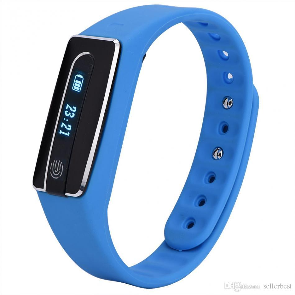 HB02 Inteligente Pulseira Bluetooth Esporte Pulseira Relógio Pedômetro Pulseira Monitor de Freqüência Cardíaca Relógio Anti-lost Reminder IOS Android