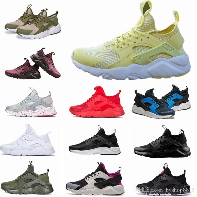 90e5510b92ab 2018 New Huarache IV Ultra Running Shoes Huraches Trainers for Men ...