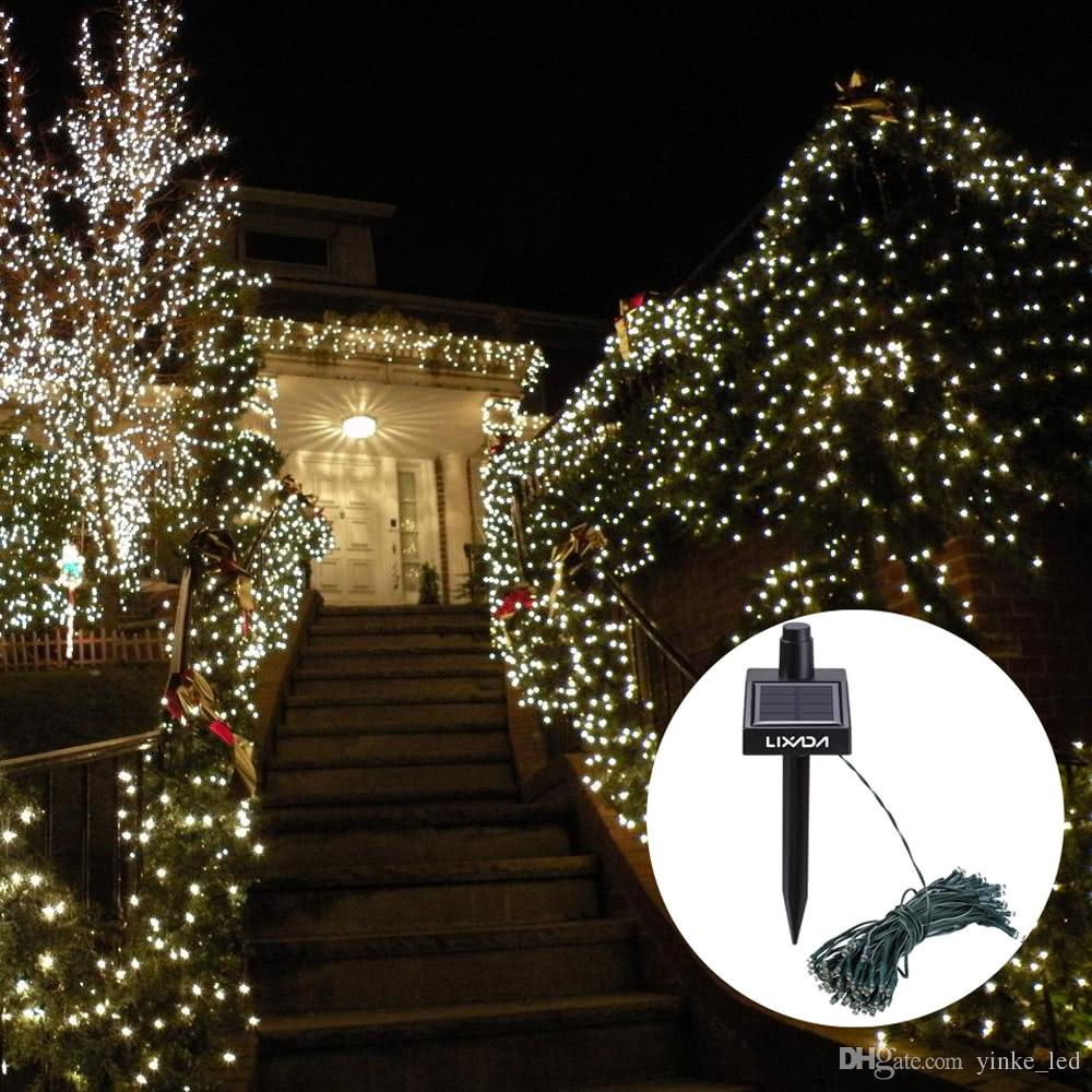 17M Solar Lamps LED String Lights 100LEDS Outdoor Fairy Holiday ...