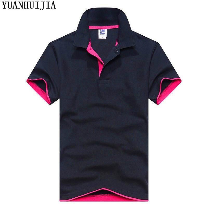 e0ed4b0f40 Compre Homens Camisa Marca Mens Cor Sólida Camisas Camisa Masculina Homens  E Mulheres Casuais De Algodão De Manga Curta E Mulheres De Edward03