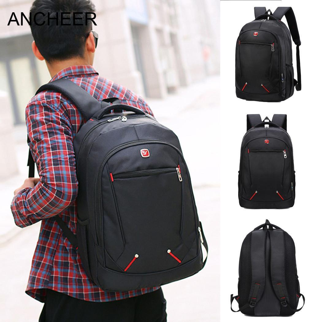 Massage Laptop Original New Backpacks Cushion1 Nylon Men Backpack Brand  Design Large Comfort Men s Patent Air Capacity Swiss Army Backpack Black  Leather ... 967fef6b7fa10