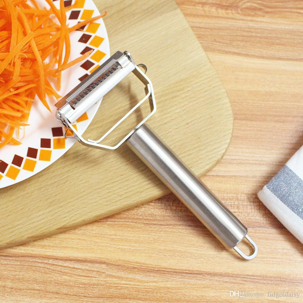 430 из нержавеющей стали 2 в 1 Многофункциональный Zesters сталь картофелечистку Терка Слайсер Cutter Овощи Морковь Слайсер Кухня Приготовление Инструменты P