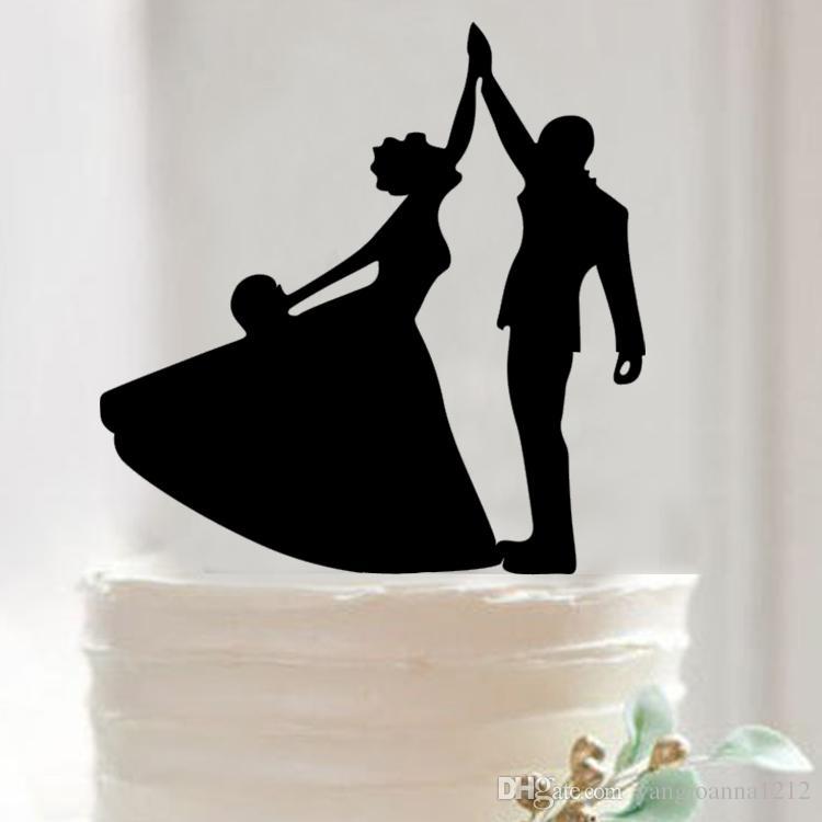 Wholesale Acrylic Wedding Cake Inserted Card Cake Topper For Wedding ...