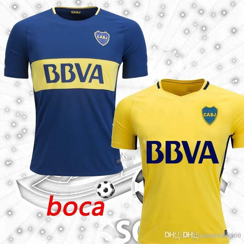 Wholesale  9 Benedetto Argentina 2017 2018 Boca Juniors Soccer Jerseys 17  18 Gago Pavon Vadala Cardona Camiseta Home Blue Away Yellow Football Shirts  By . 29bd029e014ee