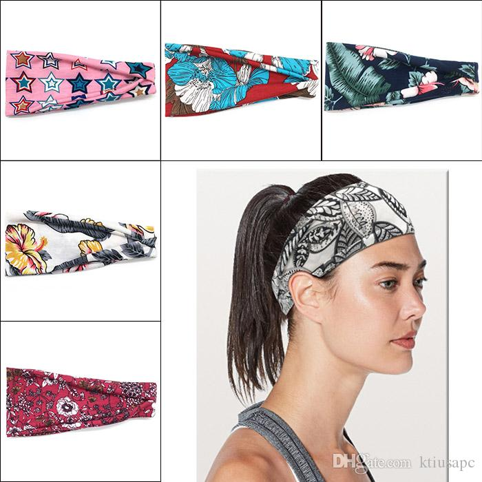 2101b03dd233 2019 Women S Headband Yoga Running Exercise Sports Workout Athletic Gym Wide  Sweat Wicking Stretchy No Slip Little Girl Hair Accessories Hair  Accessories ...