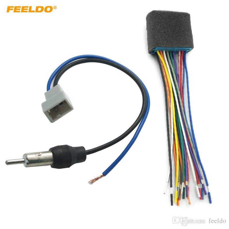2018 Feeldo Car Audio Stereo Head Unit Harness With Radio Antenna Rhdhgate: Mazda Radio Antenna At Gmaili.net