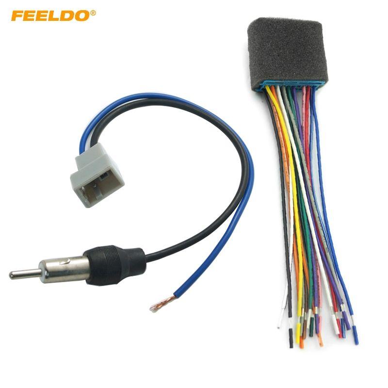 2019 feeldo car audio stereo head unit harness with radio antenna adapter  cable for honda/acura/mazda/suzuki #1577 from feeldo, $10 48 | dhgate com