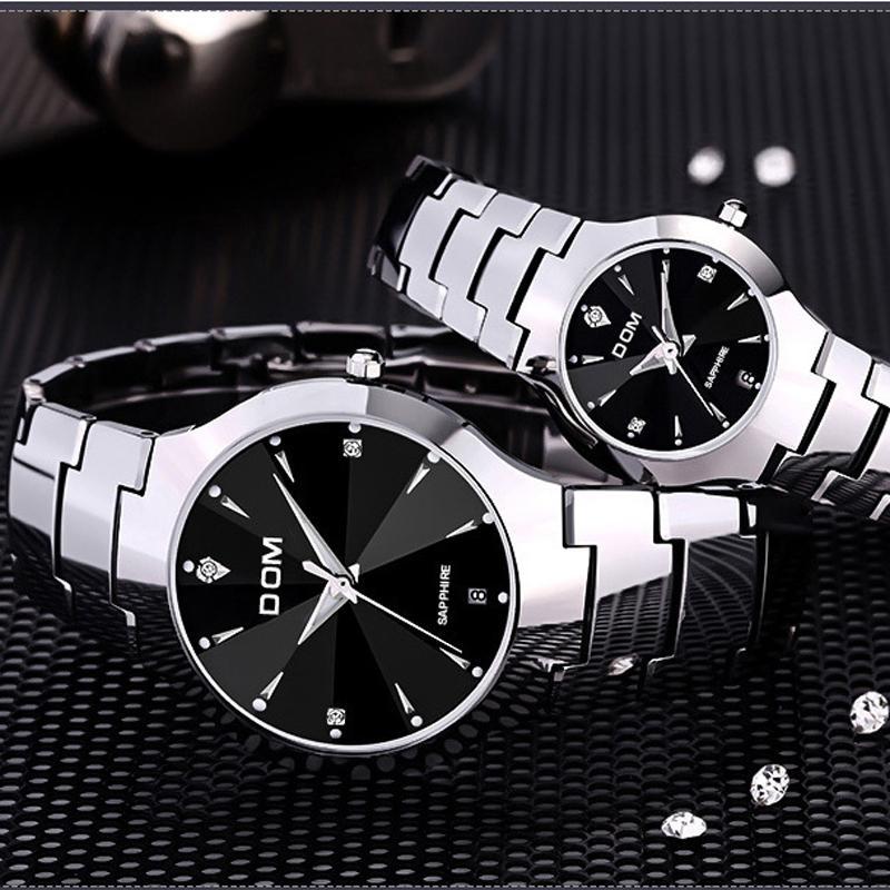 596930dbd6b Compre DOM 698 Top Marca De Luxo De Quartzo Moda Masculina Relógios Amantes Mulheres  Relógio De Pulso De Aço À Prova D  Água De Luxo Relógios De Aço ...