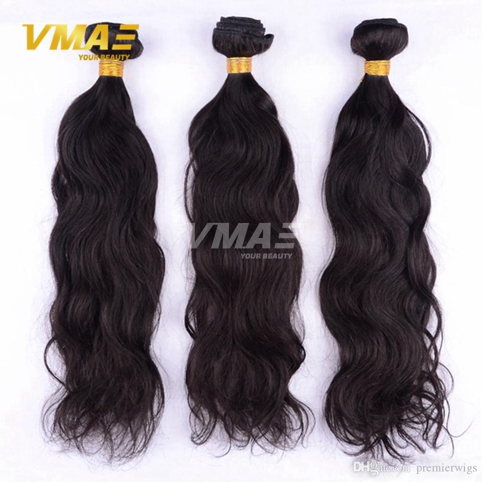 100 Human Hair Weave Natural Wave Hair Extensions Unprocessed Hair