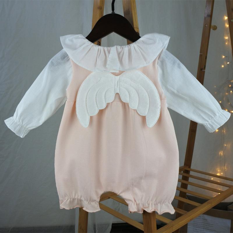 79545b43a 2019 Baby Girl Clothing Romper Ruffles Collar Long Sleeve Romper ...