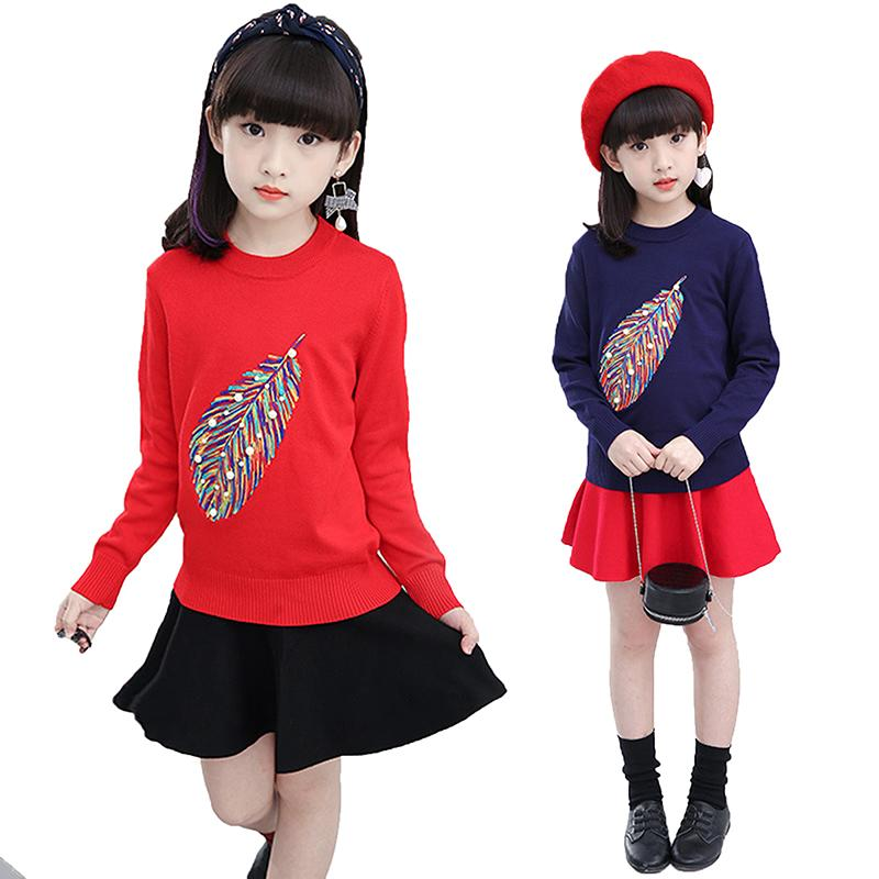 Kids Knitted Clothing For Girls Sweaters Children Knitwear Clothes