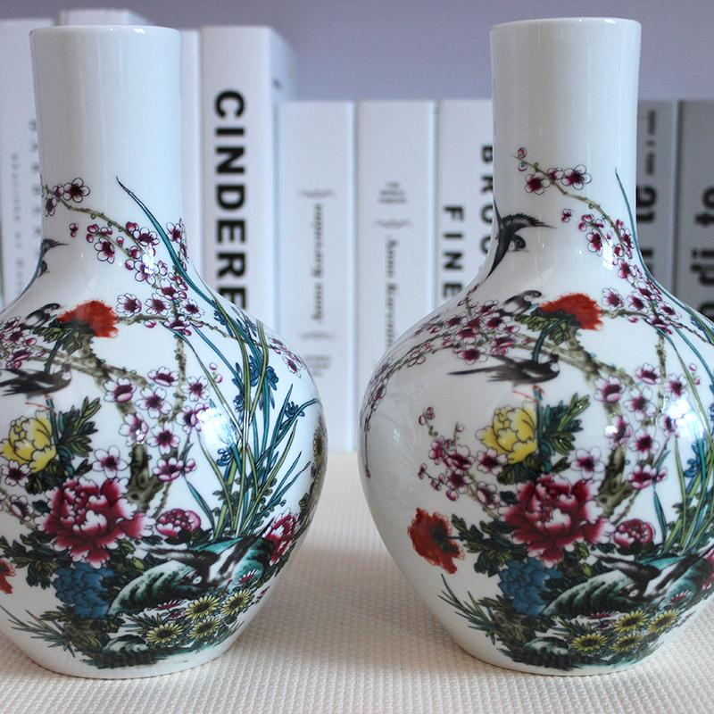 Modern Ceramics Small Vase Decorated Living Room Decoration Flower